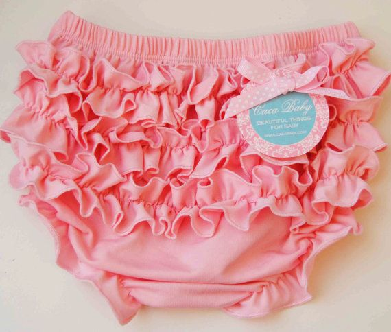 Bloomers make any baby girl outfit.