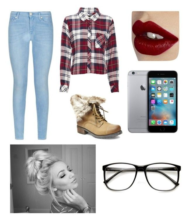 """""""Casual Teen Outfit"""" by blundone on Polyvore featuring Rails, Steve Madden, 7 For All Mankind, Charlotte Tilbury, women's clothing, women, female, woman, misses and juniors, teen, teenager, outfit, outfit idea"""