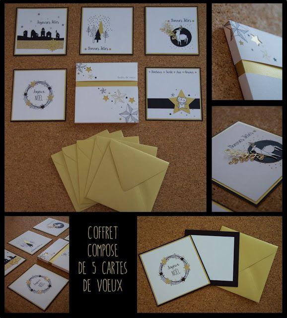 Coffret composé de 5 jolies cartes pour souhaiter la bonne année ou un joyeux Noël à vos proches.  Coffret à offrir ou pour se faire plaisir tout simplement. www.picnicdouille.fr