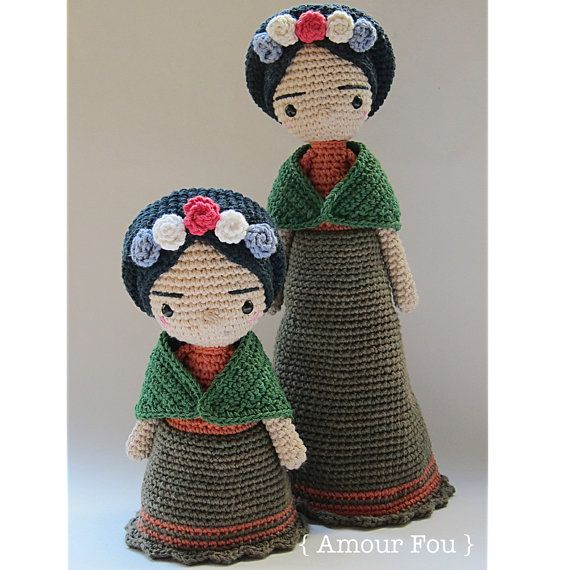 Mini Frida patrón de ganchillo por Amour Fou por AmourFouCrochet