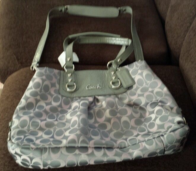 coach pink and gray purse fyuo  pink and gray coach bag