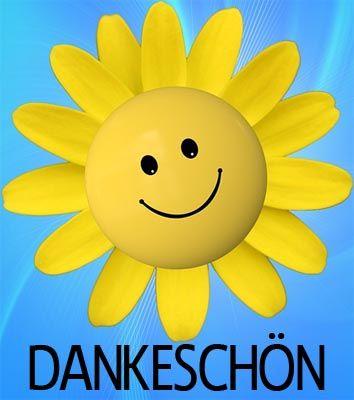 Sonnenblume als Smiley zum Dank