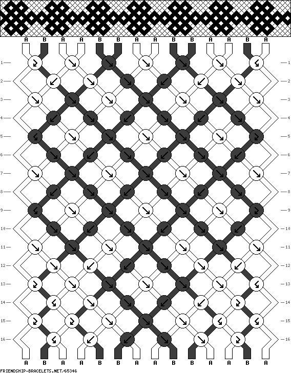 14 strings, 16 rows, 2 colors