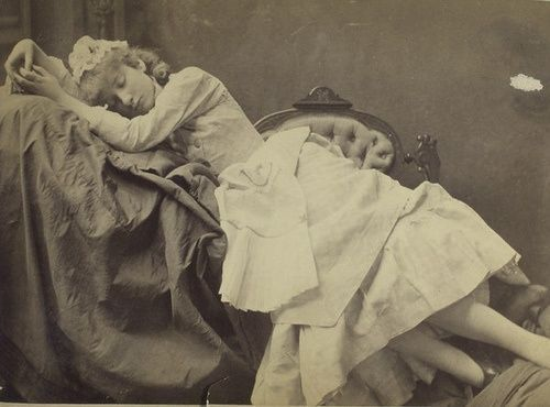 Sleeping Beauty Post-Mortem Photography | Sleeping beauty in sepia 1890