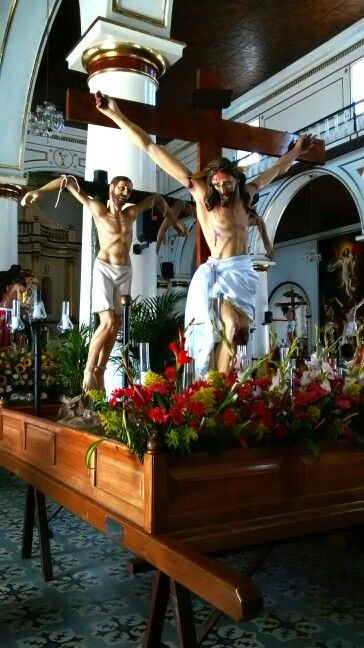 El cristianismo y sus manifestaciones culturales en Colombia. Semana santa en Giron, Santander, Colombia.
