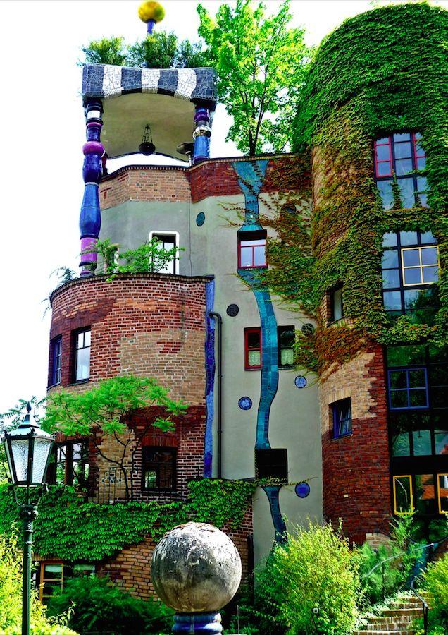 Hundertwasserhaus Bad Soden near Frankfurt, Germany • architect: Friedensreich Hundertwasser • photo: original source not found