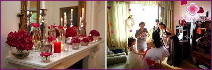 Decorarea casei miresei pentru nunta si pentru rascumparare - Fotografii idei de design