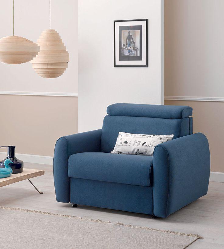 Moore di doimo salotti un 39 elegante poltrona letto design - Divano letto elegante ...
