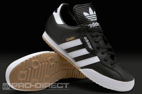 adidas Football Trainer - adidas Samba Super - Soccer Shoe - Black / White - Indoor Football Boot