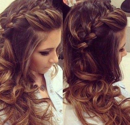 penteados para formatura cabelos longos