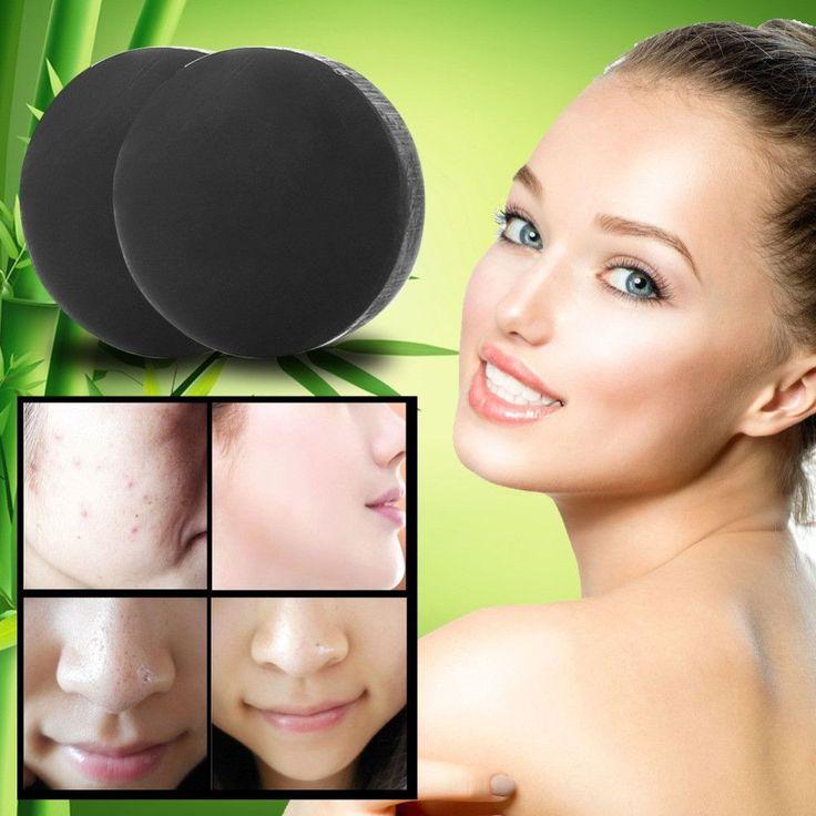 Bamboo charcoal handmade soap Treatment skin care natural Skin whitening soap blackhead remover acne treatment oil control 1Pcs