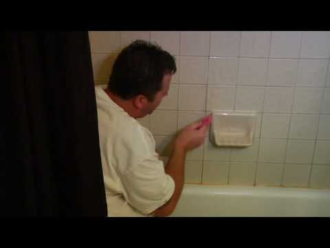 ▶ DIY Home Repairs : How to Replace Cracked Tile Grout - YouTube