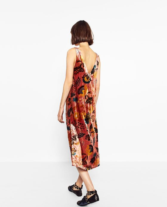 Image 6 of PRINTED VELVET DRESS from Zara