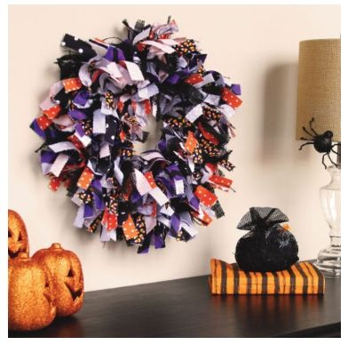 Halloween Rang Wreath Tutorial and Craft Store Coupons Until 8/30 – Hobby Lobby, Michael's and Jo-Ann Crafts