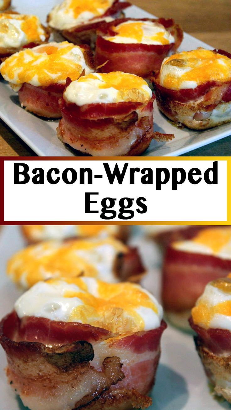 Each egg muffin is wrapped with one piece of bacon, and baked in muffin tins. This makes a perfect breakfast for any morning.