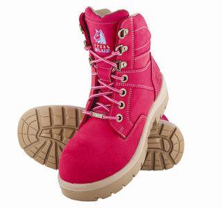 Steel Blue Southern Cross Ladies Pink Steel Cap Boot