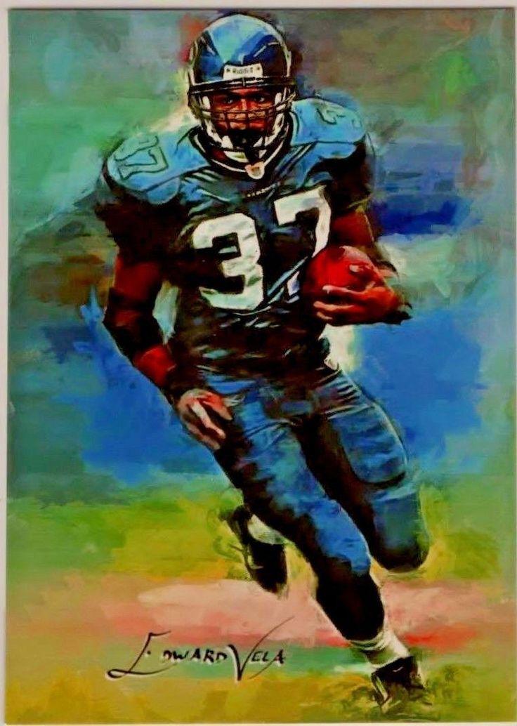 Shaun Alexander, RB Seattle, Sketch Art Card LP 3/25 Artist Edward Vela Signed. | eBay