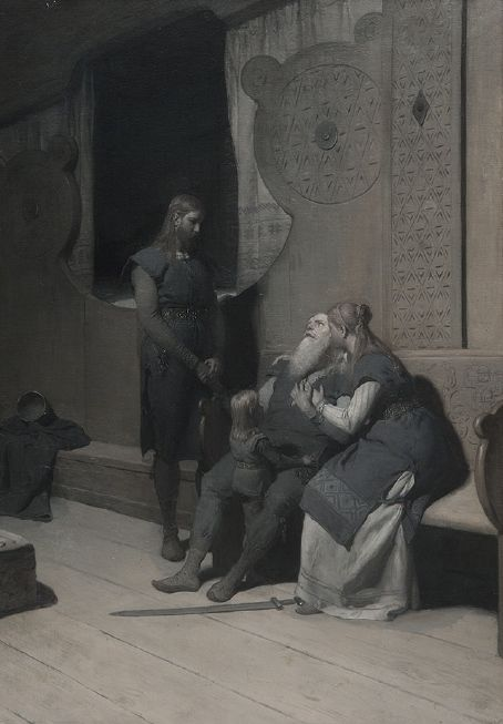 King Ring's death (Frithiof's saga) by August Malmström, c.1880. Nationalmuseum Sweden, CC BY-SA