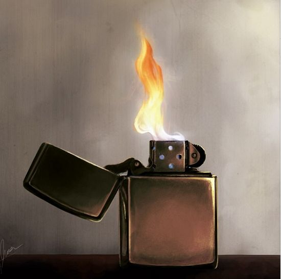 Zippo Lighter Illustration By Instagram Fan Mark Herrington