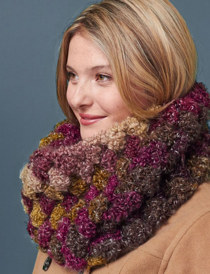 Quick Crochet Cowl Free Pattern : Yarnspirations.com - Patons Quick and Cozy Cowl ...