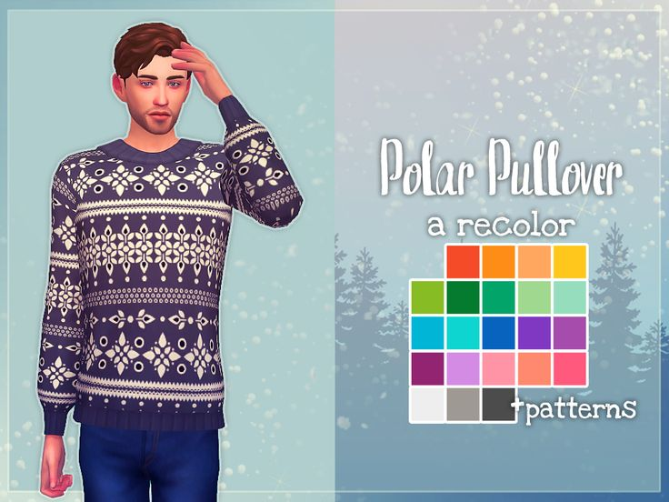 Sims 4 | Nolan Sims: Polar Pullover #CAS clothing male adult top EP03 recolor