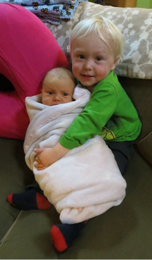 Alaska The Last Frontier - Findlay and his new baby sister, Sparrow Rose Kilcher.