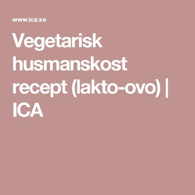 Vegetarisk husmanskost recept (lakto-ovo) | ICA