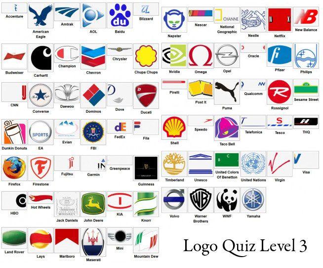 Logo Quiz Answer Level 1 2 3 4 5 6 7 8 9 - LevelStuck.com