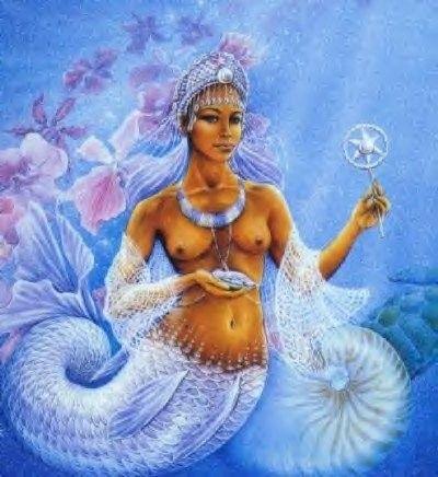 marchenarajal:  fuckyeablackart:  Orisha-Yemaya Visit...
