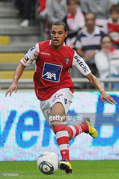 Baiano of SC Braga in action during the Liga Portugal match between SC Braga and CD Nacional at the Estadio Municipal de Braga on September 25 2011...