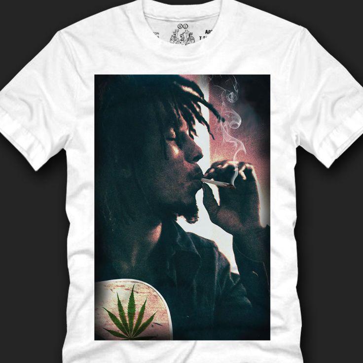 Men's T- shirts Sensual Characterful Design 100%Cotton,bob marley marijuana  copy #