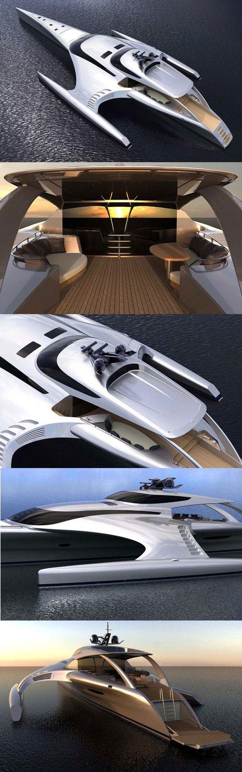♂ Adastra Trimaran Super Yacht Concept Yacht from http://psipunk.com/adastra-trimaran-super-yacht/