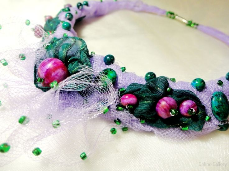 Fresh Lilac Statement Necklace-1
