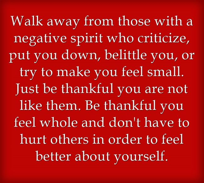 negative, toxic, critical people who try to put you down