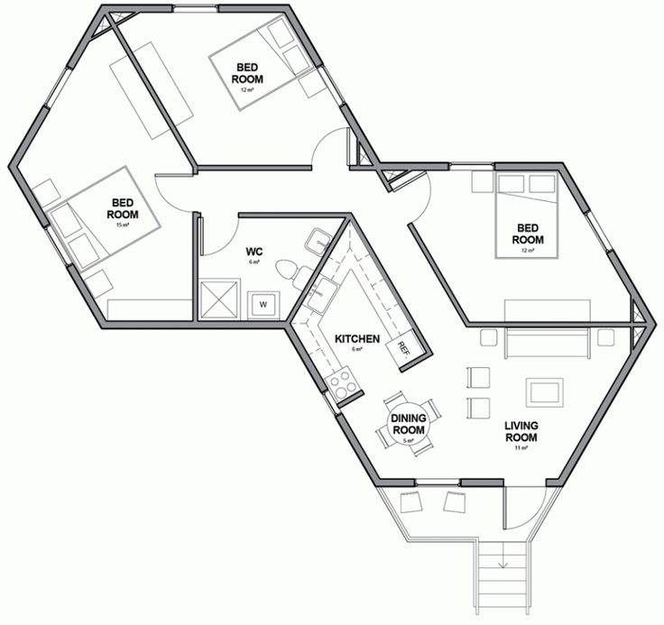 Pentagon Cabin Plans: Architects For Society Designs Low-cost Hexagonal Shelters