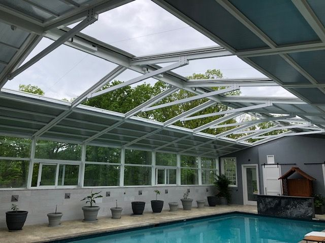 Residential Retractable Pool Enclosure South Brunswick Nj America S Leading Custom Manufacturer Of Retractable Enclosure And Roof Systems Pool Enclosures Pool Outdoor Pool