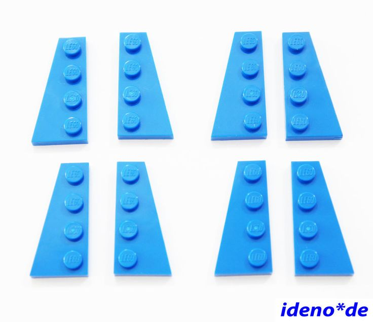 LEGO Basic City Bau 4  Paar Platte Flügel 2 x 4  blau 41769 41770  NEU | eBay