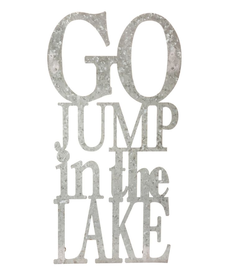 Cute for a lakehouse or outdoor theme bathroom 'Jump in the Lake' Iron Wall Décor by Evergreen #zulilyfinds