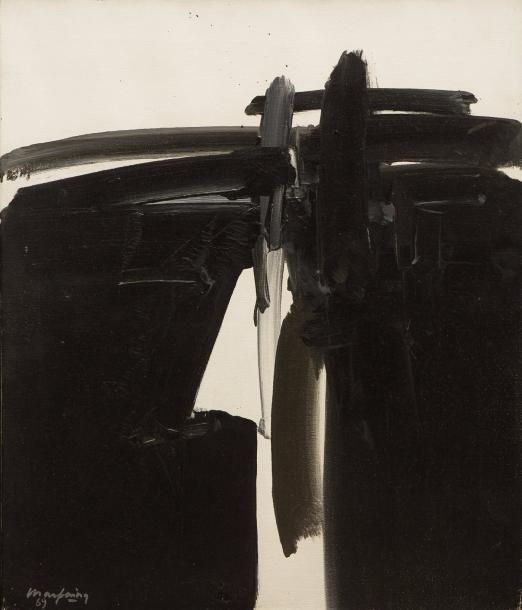 André MARFAING (1925-1987)  Sans titre, 1969  Huile sur toile signée et datée en bas à gauche  65 x 54 cm    Provenance :  Collection particulière, Paris  - Millon - 06/03/2017