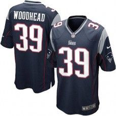 Men's Blue NIKE Game    New England Patriots #39 Danny Woodhead Team Color   NFL Jersey