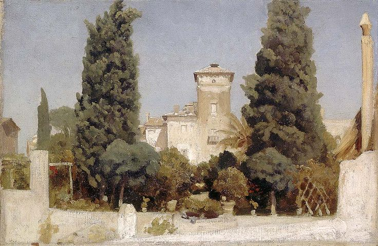 """leighton frederick the villa malta rome (from <a href=""""http://www.oldpainters.org/picture.php?/28958/category/12790""""></a>)"""