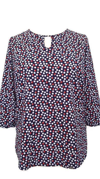 f23f0b3530  Elegancka  bluzka  tunika  plus  size  duże  rozmiary 40-58 MONA łezka  na   święta  boże  narodzenie  wigilia  prezent  dla  puszystej  kobiety  grochy  ...