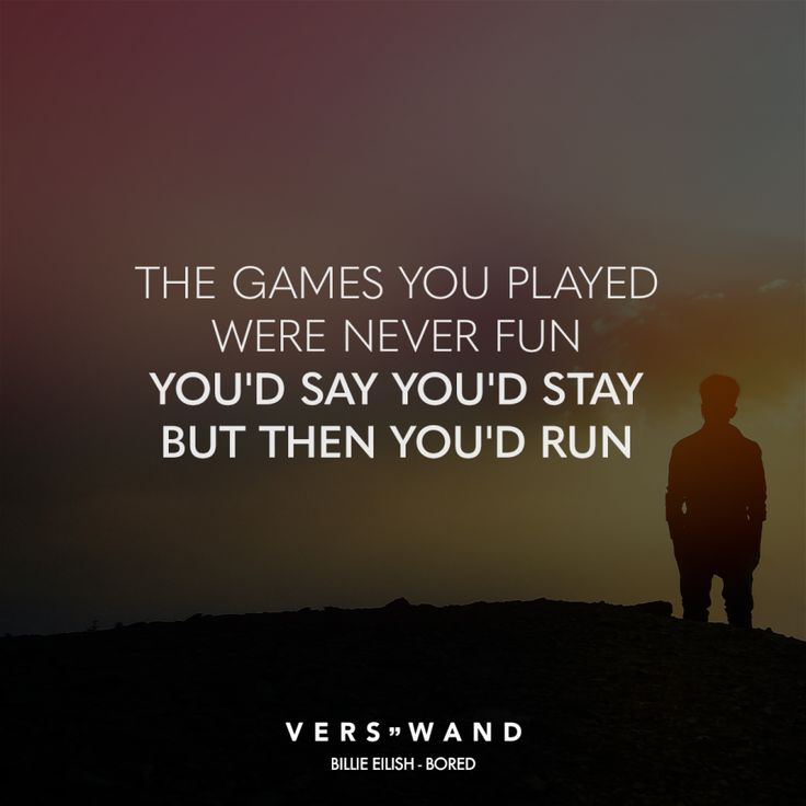 The game you played has never been fun.   – Verswand // VISUAL STATEMENTS®