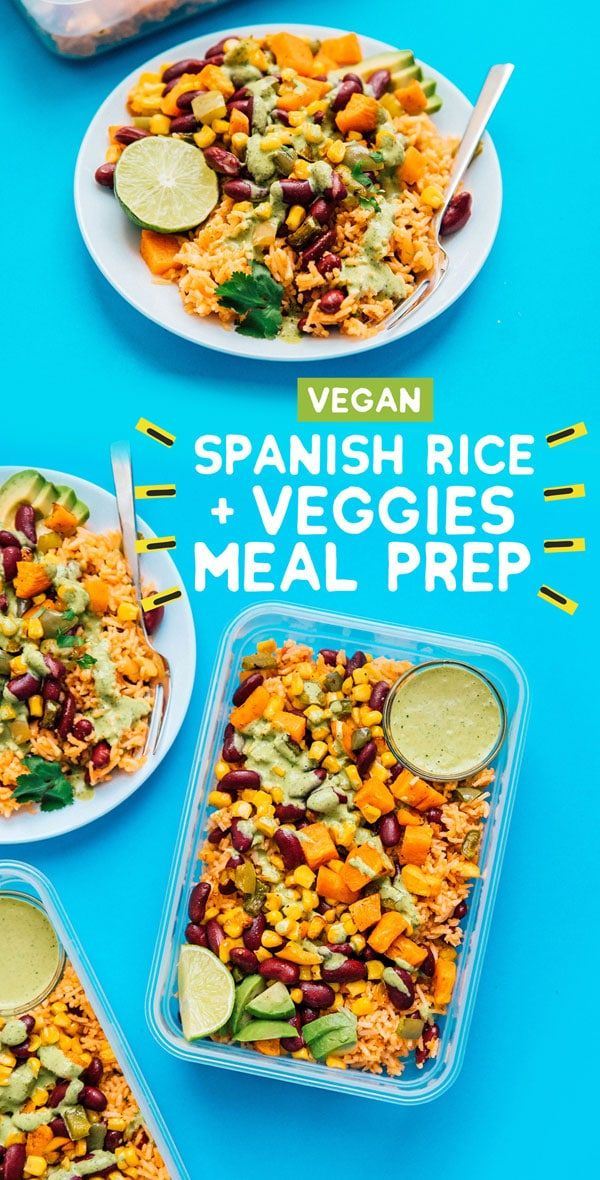 Roasted Veggie And Spanish Rice Meal Prep Recipe Vegetarian Meal Prep Lunch Recipes Healthy Healthy Lunch Meal Prep