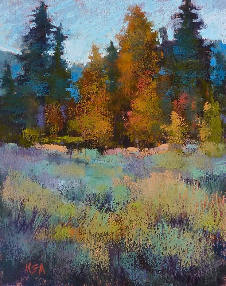 Painting My World: Pastel Demo....Trees and Sagebrush on Mystery Paper