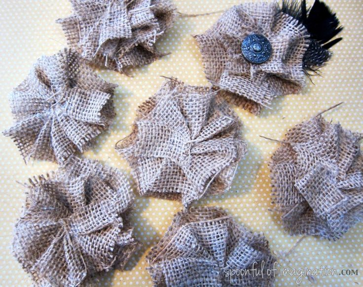 Burlap flowers & bows - Christmas stockings and hair bows.