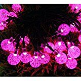 Cideros Solar Fairy Lights 19.6ft 30LEDs String Lights Waterproof Long Globe Flashing Lights for Christmas Party... christmas deals week