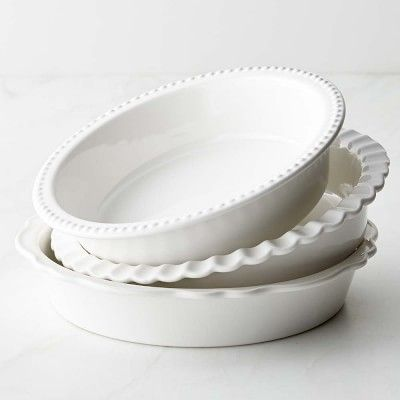 Williams-Sonoma Stoneware Pie Dish, Set of 3 #williamssonoma