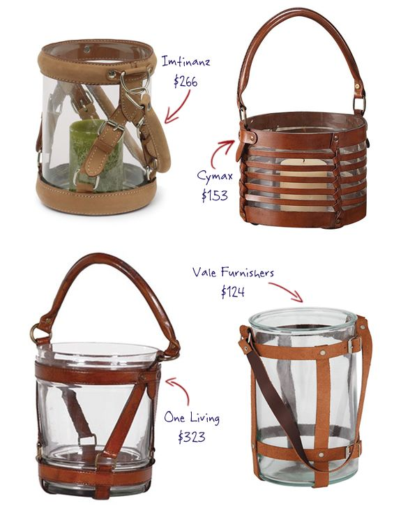 Glass and Leather Lanterns