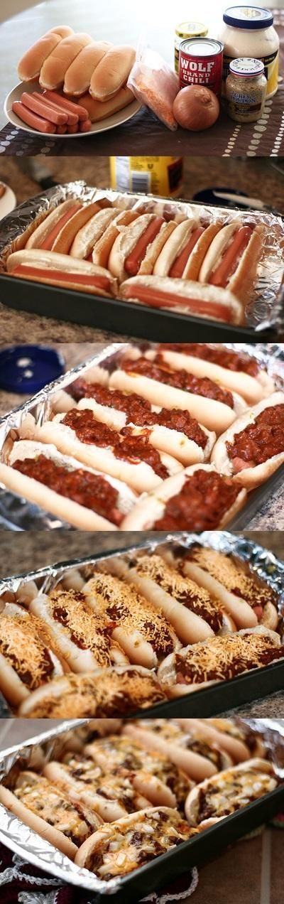 Oven Hot Dogs - I make these all the time. I learned this technique from Rachel Ray and I love it.